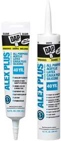 Dap 18120 Alex Plus All-Purpose Caulk Plus Silicone 10.1 fl. oz. Brown