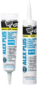Dap 18156 Alex Plus All-Purpose Caulk Plus Silicone 10.1 fl. oz. Clear