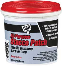 Dap 10504 All Purpose Stucco Patch Quart White