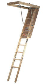 Louisville Ladder S254P Attic Stairway 8 ft 25-1/2x54