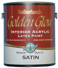 Davis Paint .31502 Golden Glow Interior Latex Paint Satin White Gallon