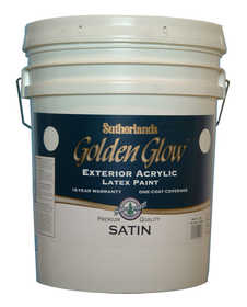 Davis Paint .40601 Golden Glow Exterior Latex Paint Satin Tint Base 5 Gal