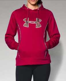 Under Armour 1247106-623-LG Women's Storm Caliber Big Logo Hoodie Fury L