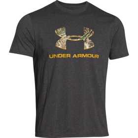 Under Armour 1250668-092-XL Camo Fill Logo Tee Carbon Xl