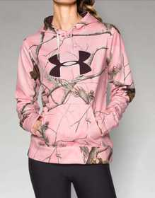Under Armour 1265757-935-LG Women's Camo Big Logo Hoodie RealTree Pink L
