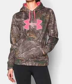 Under Armour 1265757-947-SM Women's Camo Big Logo Hoodie RealTree Xtra S