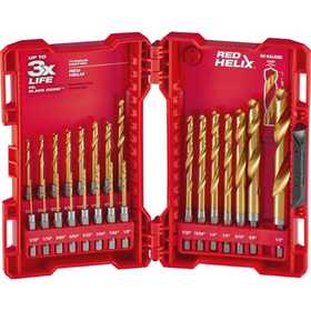 Milwaukee 48-89-4631 23 Piece Titanium Shockwave&trade Drill Bit Kit