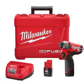 Milwaukee 2452-22 M12 Fuel 1/4 in Impact Wrench Kit