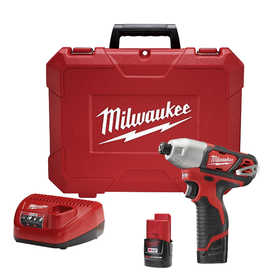 Milwaukee 2462-22 M12 ¼in Hex Impact Driver Kit