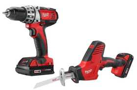 Milwaukee 2696-22CT M18 Drill /Driver & Hackzall Combo Kit