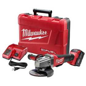 Milwaukee 2780-21 M18 Fuel 4-1/2 in /5 in Grinder, Paddle Switch No-Lock Kit