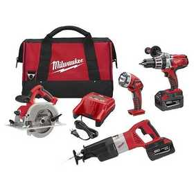 Milwaukee 0928-29 M28 Cordless Lithium-Ion 4-Piece Combo Kit