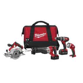 Milwaukee 2694-24 Hammerdrill/Sawzall/Circular/Light Combo 4Kit