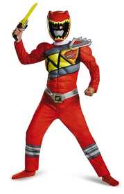 DISGUISE 82777K Red Ranger Dino Charge Classic Muscle