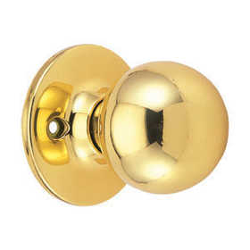 Design House 783191 Ball Knob Dummy Polished Brass Boxed