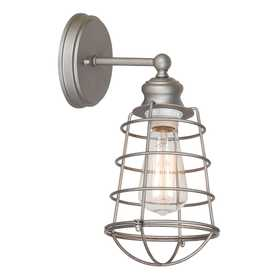 Design House 519702 1 Light Ajax Wall Mount Galvanized