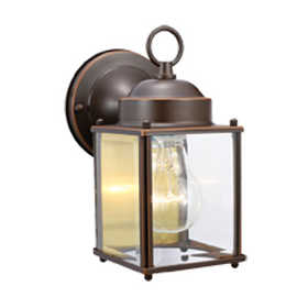 Design House 506576 Coach 1-Light Orb Outdoor Down Lt