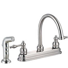 Design House 528059 Kitchen Faucet Saratoga Satin Nickel