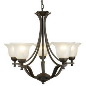 Design House 509182 Chandelier 5-Light Ironwood