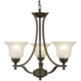 Design House 509190 Chandelier 3-Light Ironwood