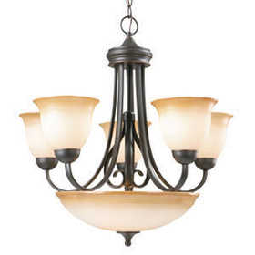 Design House 512624 Chandelier 5-Light Cameron Orb