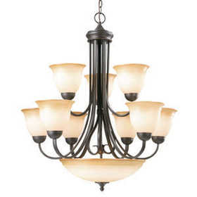 Design House 512632 Chandelier 10Light Cameron Orb Tm