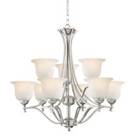 Design House 515551 Chandelier 9-Light Ironwood Satin Nickel