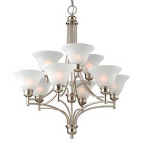 Design House 517136 Chandelier 9-Light Bristol Satin Nickel