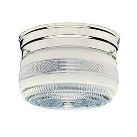 Design House 501999 Light Ceiling 2-Light Drum 8 in Chrome