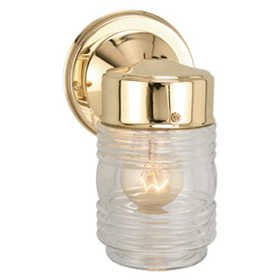 Design House 502179 Downlight Outdoor Jelly Jar Polished Brass