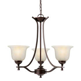 Design House 517557 Chandelier 3-Light Ironwood Brushed Bronze