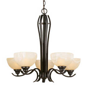 Design House 517490 Chandelier 5-Light Trevie Orb