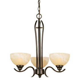 Design House 517409 Chandelier 3-Light Trevie Orb