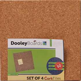 Dooleys 1212COTL-4 12x12 in Cork Tiles Pack of Four