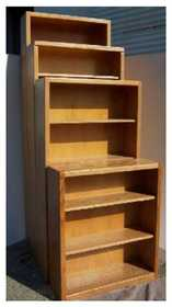 Dooleys SD324810M Bookcase Contmp Med Oak 32 In X 48 In