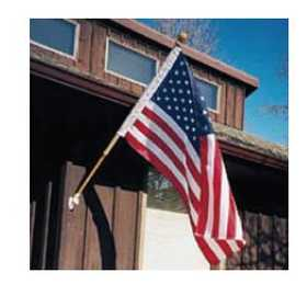 Eder Flag Co 89835 21/2x4 Poly United States Flag