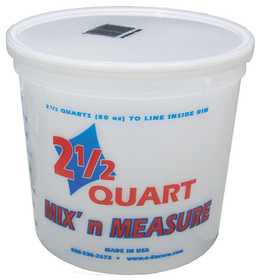 Encore Plastics 300405 Container Mix N Measure 2-1/2 Qt