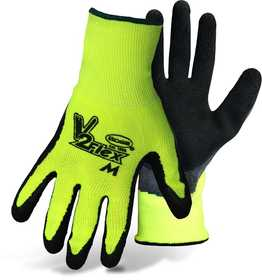 Boss Mfg Co 8412L V2 Flexi-Grip High-Vis Polyester Gloves With Knit Latex Palm, Large