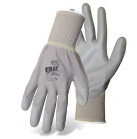 Boss Mfg Co 3000L Gray Ghost Nylon Glove With Pu Coated Palm Size Large
