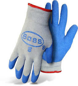 Boss Mfg Co 8422L Boss Grip Rubber Palm String Knit Gloves Size Extra Large