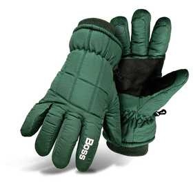 Boss Mfg Co 4232GL Poplin Insulated Ski Glove Green Large