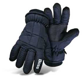 Boss Mfg Co 4232ML Poplin Insulated Ski Glove Navy Large