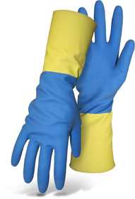 Boss Mfg Co 55L Neoprene/Latex Blend Blue And Yellow Glove With 13 in Gauntlet Cuff Size Large