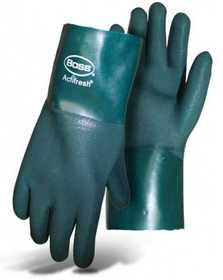 Boss Mfg Co 1712 Ruff Grip PVC Glove With 12 in Gauntlet Cuff Size Large