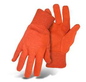 Boss Mfg Co 4204AL Jersey Glove Plastic Dot Orange Large