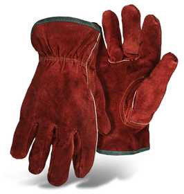 Boss Mfg Co 4175L Split Cowhide Insulated Leather Glove Red Large
