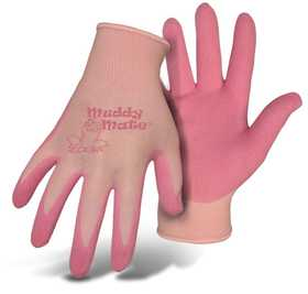 Boss Mfg Co 9401PB Boss Muddy Mate Children's Pink Foam Nitrile Gloves Ages 9-12