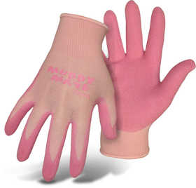 Boss Mfg Co 9401PM Boss Muddy Mate Ladies' Pink Foam Nitrile Gloves With Nylon Shell Size Medium