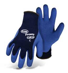 Boss Mfg Co 8439S Frosty Grip™ Insulated Knit Rubber Palm Glove Blue Small
