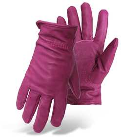 Boss Mfg Co 4056 Women's Grain Pigskin Gunn Cut Glove Magenta Large